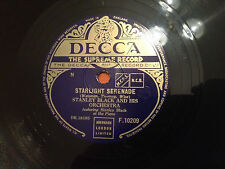 "STANLEY BLACK & HIS ORCHESTRA ""From Here To Eternity""/""Starlight Serenade"" 78 NM"