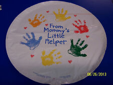 """RARE Mommy's Little Helper Baby Mother's Day Party Decoration 18"""" Mylar Balloon"""
