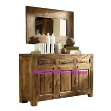 KraftNDecor Contemporary Wooden Sideboard/Cabinet in Brown Colour