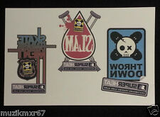 SDCC San Diego Comic Con Handout Super Heat Skateboarding temporary tattoo Sheet