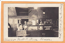 Real Photo Postcard Rppc - Butcher in Meat Shop - Occupation