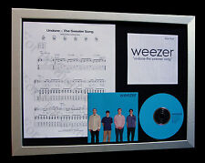 WEEZER Undone Sweater Song LTD CD QUALITY FRAMED DISPLAY+EXPRESS GLOBAL SHIP