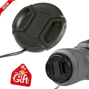 52mm Portable Center Pinch Snap Front Lens Cap Cover for Canon Camera 2021