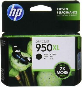HP 950 XL Black INK CARTRIDGE OfficeJet Printer 2300Page Yield EXP 3/17 UNOPENED
