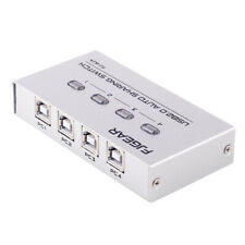 4 Port USB2.0 Auto Sharing Switch HUB For Printer Scanner Keyboard New