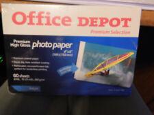 "Office Depot Premium High Gloss 4"" x 6"" Photo Paper #603-199 ~ 60 Sheets"