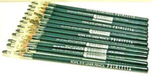 Princessa Eyeliner KOHL #E001 RICH BLACK  Crayon Pencil w/sharpener 12 EYELINERS