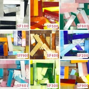 200g 1x4cm Stained Glass Strip DIY Mosaic Hobbies Tiffany Material Supplier