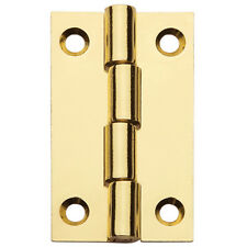 "Flat Butt Hinge 1-1/2"" X7/8"", Polished Brass"