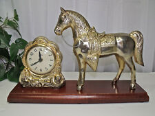 Vintage Horse Western Décor Mantel Clock United - Original
