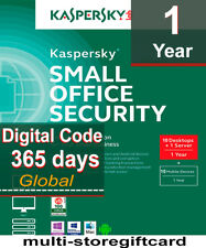 Kaspersky Small Office Security 2018 10 DESKTOPS/10 MOBILES 1 FILESERVER 1 YEAR