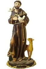"""12"""" St Saint Francis of Assisi Statue San Francisco de Asis Statue"""