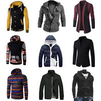 Men Winter Coat Jacket Outwear Sweater Casual Slim Hoodie Warm Hooded Sweatshirt