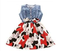 Abito bambina 2-6 anni Disney Minnie mouse Topolino estate gress girl