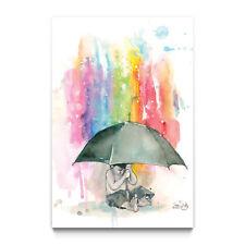 "LORA ZOMBIE ""Umbrella Boy"" signée (street art, pop art, banksy graffiti )"