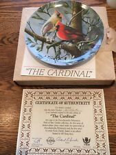 Collectible plate of magnificent cardinal