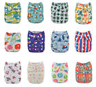 Alva Reusable Washable OS Colorful Infant Baby Cloth Diaper Nappy +1 Insert Lot