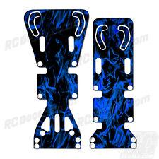 T-Maxx / E-Maxx INTEGY Skid Plate Protectors Digital Flames- Blue - Traxxas