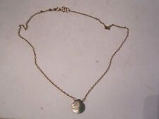 """Of Pearl Pendant - 15"""" Long -Ofcc 14K Gold Filled (Gf) Necklace With Mother"""