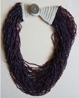 ANCIEN Collier de perles de verre Edward VII 1907 style ethnique