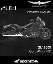 2013 HONDA GOLDWING F6B GL1800B MOTORCYCLE OWNERS MANUAL-GL1800 B-GOLD WING-F6B