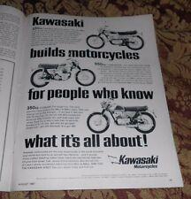 1967 Mt Print Ad Kawasaki Motorcycle 650cc Commander 350cc Avenger 250cc Samurai