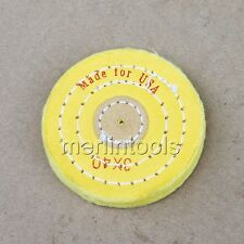 "Diameter 80mm/3.1"", 40 ply Yellow cloth Polishing Buffing Wheel Hole 3mm"