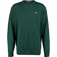 New Mens Lacoste Green Crew Neck Jumper Size 11 2XG 6XL RRP £130 AH3021 BNWT