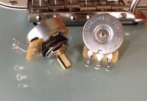 CTS 250K Pot SHORT SPLIT shaft - Dish Back - Audio Taper - 450G - 1X -  Guitar