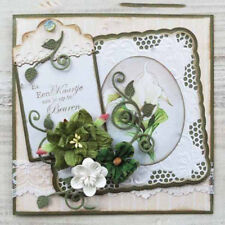 Xmas Greeting Cards Tags Frame Metal Cutting Dies for Paper Card Craft OJ