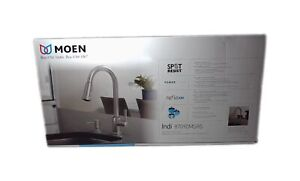 MOEN Indi Single-Handle Pull-Down Sprayer Kitchen Faucet Stainless