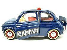 MODELLINO AUTO FIAT 500 CAMPARI SOLIDO SCALA 1/18 DIECAST MODELLISMO EPOCA BLU