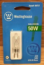 Westinghouse Lighting (04717) Corp 50-Watt T4 JCD Halogen Bulb **NEW**