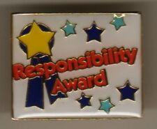 """Responsibility Award"" Enamel Lapel Pins/Lot of 25/NIB"