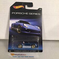 Porsche Boxster Spyder  #6 * Blue * Porsche Series * Hot Wheels Special Edition