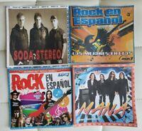 4 DISCOS DE ROCK EN ESPANOL. FORMATO MP3.400 CANCIONES EN TOTAL.INCLUYE LISTAS