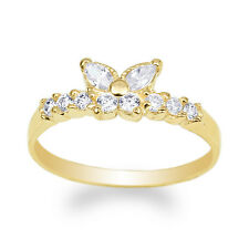 JamesJenny Womens 10K Yellow Gold Butterfly Shaped Band Ring Size 4-10