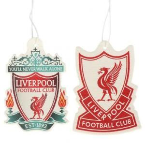 OFFICIAL LIVERPOOL FC TWIN PACK AIR FRESHENER, CAR AIR FRESHENER, LFC, THE REDS