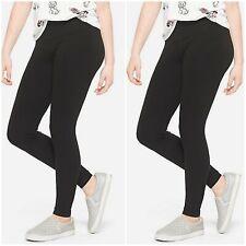 Girl's 2pk Hanes Cotton Leggings Comfort Flex Cotton Blend Black Size L (10-12)