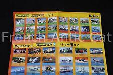HELLER maquette document modèles Rapid kit militaire avion voiture bateau G938