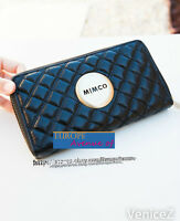 BNWT MIMCO $169 Revolution Wallet Clutch Leather Black Gold Leather dust bag