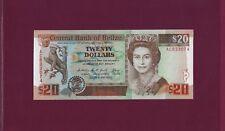BELIZE 20 DOLLARS 1990 P-55 UNC  British - England uk