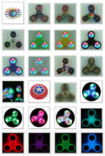SPINNER FIDGET MUSIC, RAINBOW, CAPTAIN AMERICA, COIN, LED, GLOW, USA FLAG, CLEAR