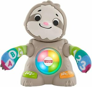 Fisher-Price Linkimals Smooth Moves Sloth Baby Toy with Music & Light - GHR18 .