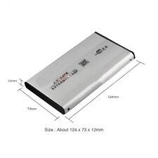 """BOX HARD SLIM CASE DISK ESTERNO 2,5"""" SATA HD HDD USB 2,5 CAVO ADATTATORE DRIVE g"""
