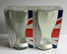 London 2012 Olympics McDonalds Collectors Coca Cola Glasses With White Wristband