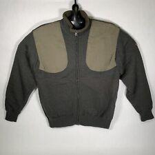 BERETTA Full Zip Wool Shooting Sweater Jacket OLIVE MEDIUM