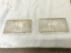 1946 Dodge pair glass park blinker light lenses 47 48 early 49 original OEM