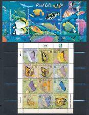 Marshall Islands BUTTERFLIES #752 (SHEET OF12) & REEF LIFE #751 (SHEET OF 8)