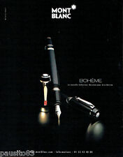 PUBLICITE ADVERTISING 046 2001  Mont Blanc  stylos collection Bohème